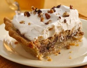 pie with nuts and heavy cream